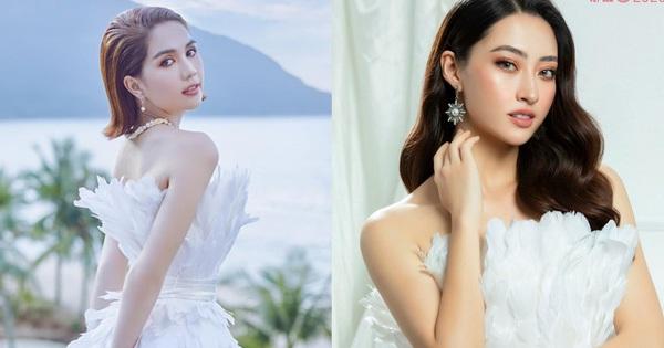 Cùng 1 bộ váy: Ngọc Trinh bỗng kém đẹp so với Lương Thùy Linh vì vóc dáng gầy gò, trơ xương thiếu sức sống
