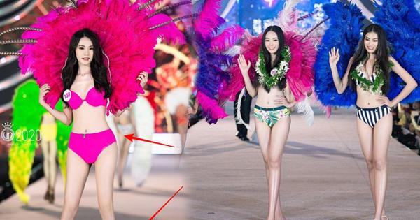 """Có 1 """"phép lạ"""" đêm Người đẹp Biển HHVN khiến netizen xôn xao: Dàn thí sinh cứ lên ảnh là chân tự dài ngoằng, nhọn hoắt tựa đao kiếm"""