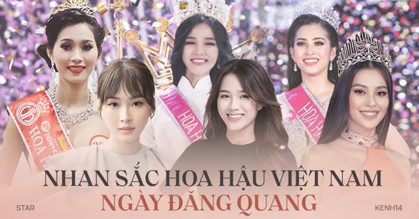 Nhan sắc dàn Hoa hậu Việt Nam lúc đăng quang: Tiểu Vy được báo quốc tế ca ngợi, Mai Phương Thuý nhận ''gạch đá'', còn Đỗ Thị Hà?