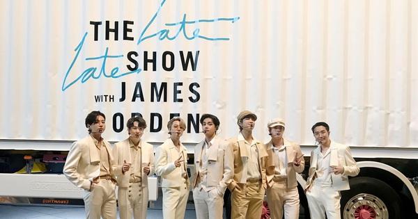 BTS chơi lớn thuê cả phi cơ, container, ra sân bay biểu diễn Dynamite ăn mừng được đề cử Grammy
