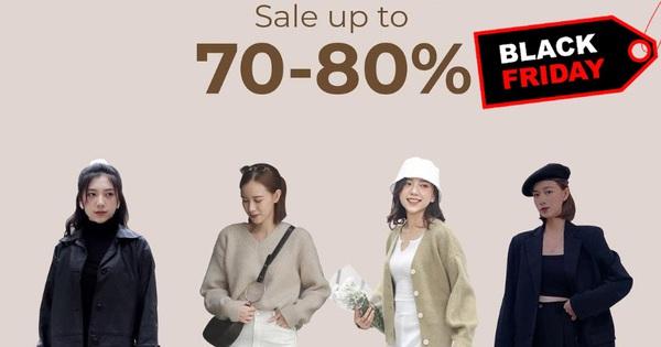 """Chị em hóng ngay: List các shop thời trang hot hit sale """"sập sàn'' đến 80% dịp Black Friday"""