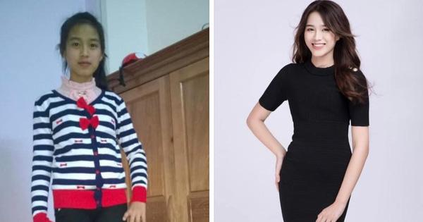 Netizen ''khui'' lại ảnh ngày ấy - bây giờ của Đỗ Thị Hà: Có tố chất Hoa hậu từ bé, bất ngờ khi so đôi chân quá khứ với hiện tại!