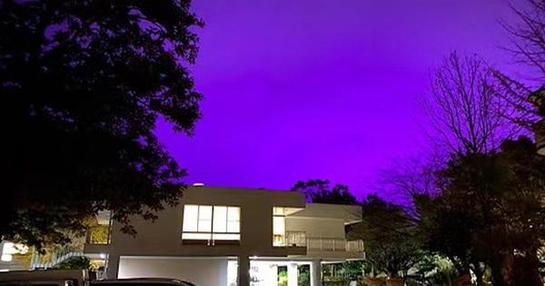 Nhật Bản: Bầu trời bỗng chuyển màu tím như phim kinh...