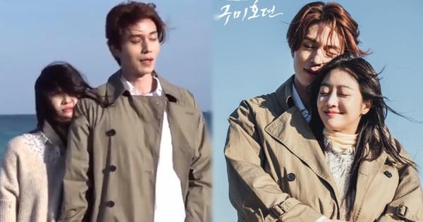 Lee Dong Wook - Jo Bo Ah bị gió thổi sấp mặt, sóng đánh tơi tả khi quay cảnh tình tứ trên bãi biển