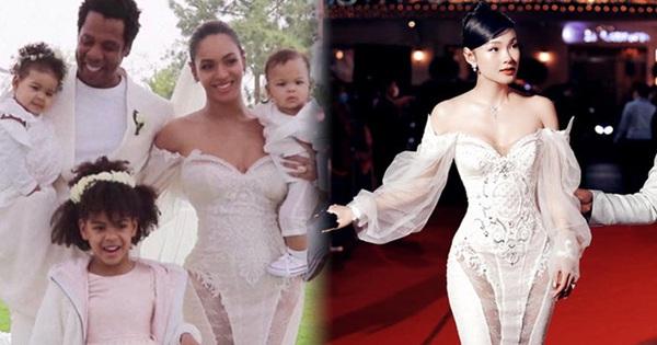 Minh Hằng khoe dáng nuột trong chiếc váy 350 triệu, ai ngờ đó chính là váy cưới của Beyoncé