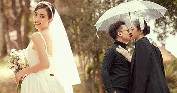 Á hậu Thuý An tung ảnh cưới lung linh trước thềm hôn lễ: Nhan sắc cô dâu 'đỉnh của chóp', e ấp bên chú rể hơn 12 tuổi!