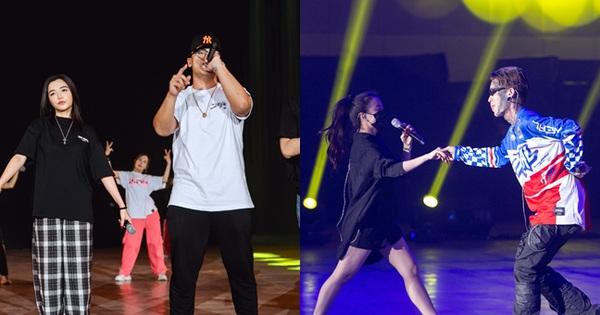 Trước giờ G Gala WeChoice Awards: Hoàng Thùy Linh và Dế Choắt cực tình tứ, Bích Phương 'cõng gấu' siêu đáng yêu bên dàn rapper trai trẻ