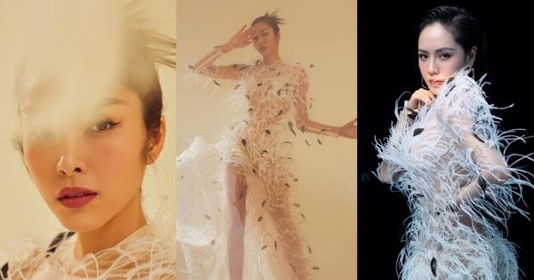 Một chiếc váy 2 số phận: Hà Tăng kiêu sa khoe dáng chuẩn nữ thần Hy Lạp, Phương Linh ma mị lả lơi như ''yêu nữ''