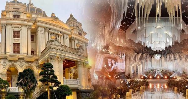 """Xôn xao đám cưới """"khủng"""" tại lâu đài dát vàng ở Ninh Bình: Thực đơn gồm súp tổ yến, gan ngỗng Pháp, cua Hoàng đế Alaska; mời cả ca sĩ Cẩm Ly và Quốc Đại trình diễn"""