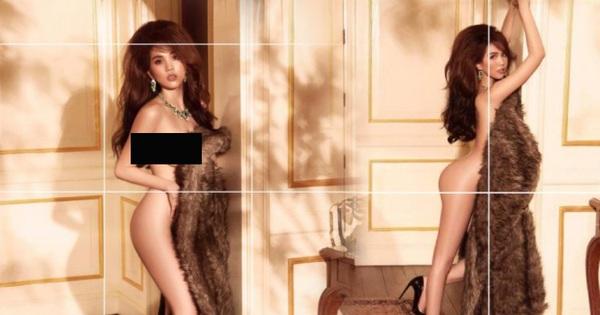 Ảnh nude 100% của Ngọc Trinh nóng nhất hôm nay: Dùng mỗi áo lông che như không che, bốc lửa đỉnh cao hay phản cảm tột độ?