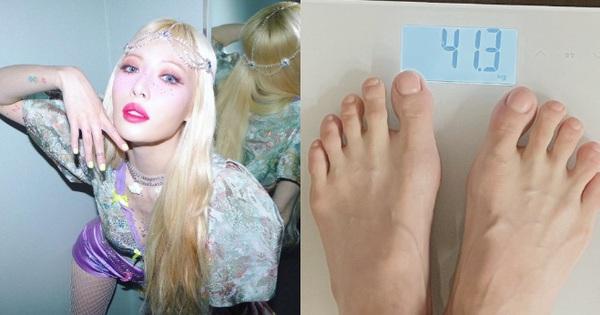 Màn giảm cân gây sốc Kbiz: Hyuna công khai cân nặng đáng báo động, body khiến Knet tiếc nuối 'Còn đâu nữ hoàng sexy?'