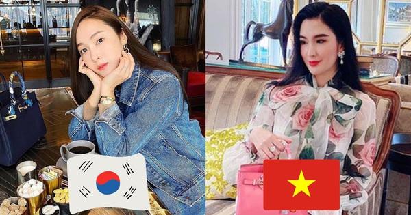 1 chiếc bàn - 2 phong cách: Các cô sao Việt đi thưởng trà lên đồ có gì khác mấy cô sao Hàn?