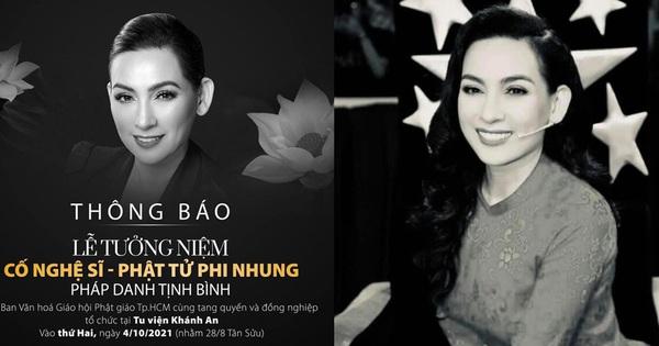 Phía cố ca sĩ Phi Nhung thông báo hoãn lễ tưởng niệm ngày 4/10, lý do là gì?