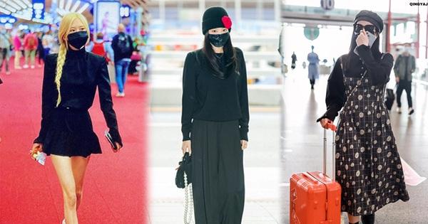 Thời trang sân bay của sao tuần qua: Sắc đen chiếm sóng, bộ đôi BLACKPINK đối lập phong cách hoàn toàn