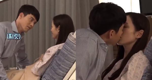 Cảnh Son Ye Jin che miệng cấm Hyun Bin hôn bị đào lại, nhìn đại úy lườm chị đẹp đến cháy mặt mà rụng tim