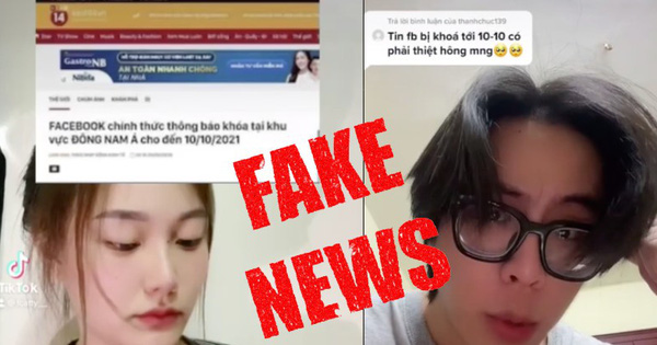 Cảnh báo: Hàng loạt TikToker tung tin giả để câu view về việc Facebook tại Việt Nam bị khoá đến 10/10