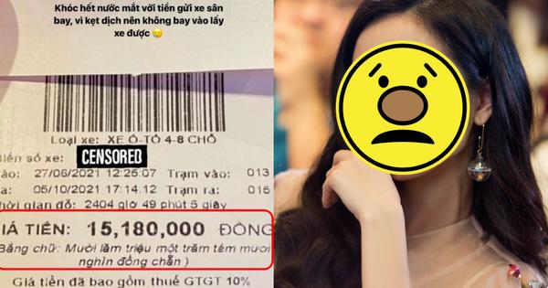 Dở khóc dở cười: 1 nữ diễn viên để xe ở sân bay, kẹt dịch hơn 3 tháng lấy về mà 'khóc hết nước mắt' vì giá vé