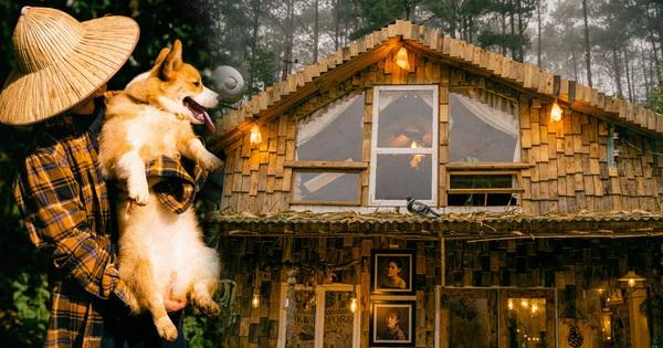 Chàng trai 9x bỏ Canada về Đà Lạt sống, chi 300 triệu tự tay dựng nên căn nhà gỗ 'quá đỗi nên thơ'