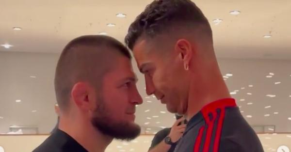 Ronaldo chạm mặt cực 'căng', đòi quật ngã võ sĩ huyền thoại Khabib