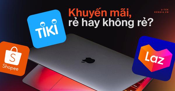 Mua MacBook trên các sàn thương mại điện tử, khuyến mãi giảm nhiều nhưng có rẻ hơn tại các cửa hàng bán lẻ?