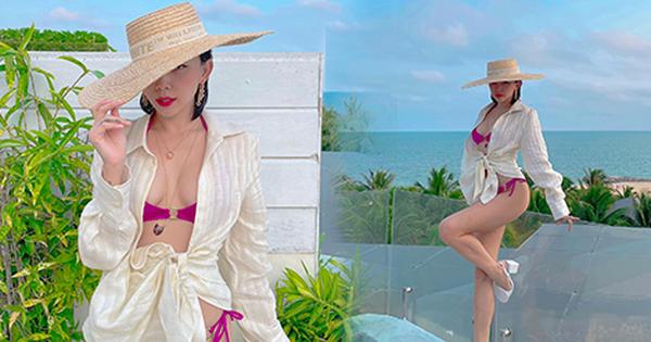 Đi nghỉ dưỡng bên Touliver, sáng sớm Tóc Tiên đã khoe ảnh bikini cắt xẻ hiểm hóc, lộ quá nửa vòng 1 phập phồng 'ná thở'