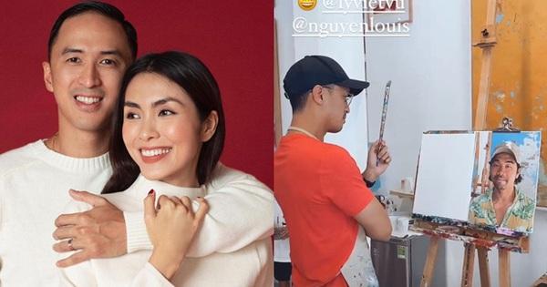 Hà Tăng đưa gia đình hào môn đi học vẽ, kéo đến thành phẩm của Louis Nguyễn mà 'té ngửa'