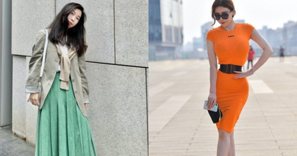 Street style Châu Á: Nhiều màu sắc xuống phố nhưng bất ngờ nhất là màn khoe eo mỏng dính của cô nàng váy cam