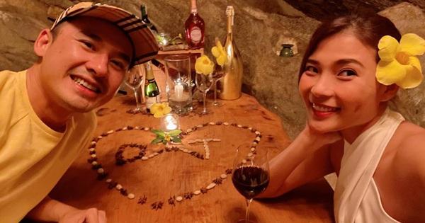 Thuý Diễm - Lương Thế Thành trốn con đi hẹn hò: Mẹ bỉm khoe body gợi cảm, cưới 5 năm vẫn như hồi ''honey moon'' lãng mạn quá đi!