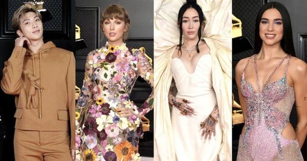 Siêu thảm đỏ Grammy: BTS điển trai xuất sắc, Taylor Swift sến rện ''chặt chém'' Doja Cat và em gái Miley hở bạo nhức mắt