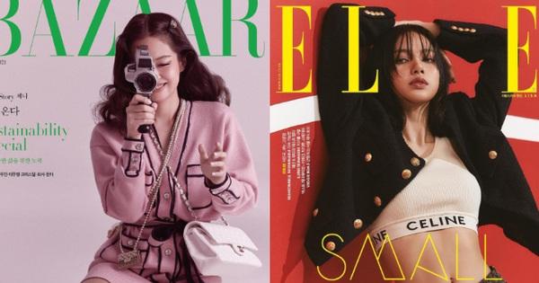 ''Rửa mắt'' xem Jennie - Lisa (BLACKPINK) đại chiến trên bìa tạp chí: Eo siêu nhỏ có đọ lại vòng 1 nghẹt thở của ''Chanel sống''?