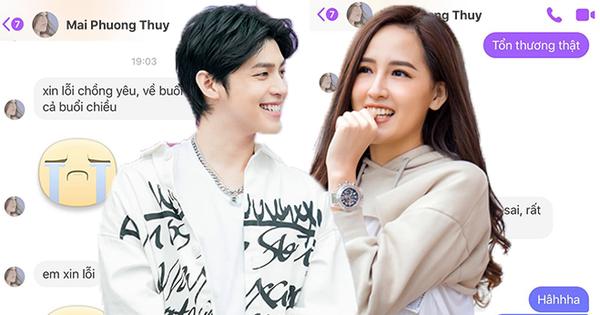 """Mai Phương Thuý - Noo Phước Thịnh công khai tin nhắn gọi nhau là vợ chồng, """"thuyền"""" đã cập bến?"""