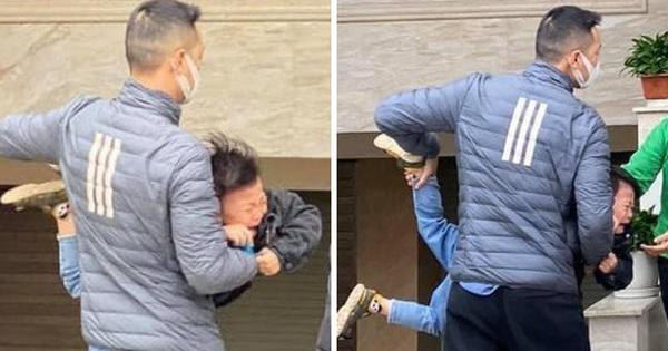 Loạt ảnh viral nhất hôm nay: Cậu nhóc mếu máo vì phải đi học lại, liên tục la khóc không chịu rời vòng tay bố