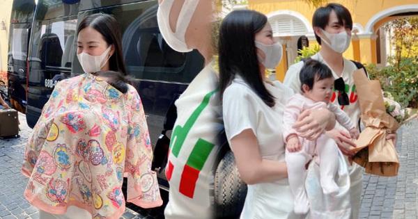 Đông Nhi lần đầu đưa con gái đi sự kiện, Winnie nguỵ trang kín mít nhưng vẫn át cả bố mẹ: 'Thế lực nhí' hot nhất Vbiz đây rồi!
