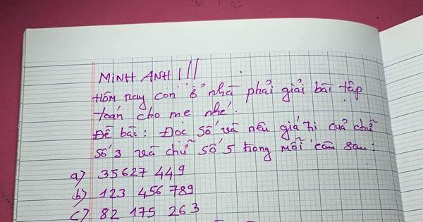 Mẹ ra bài tập yêu cầu con tự giải, cô bé viết vài chữ để lại mà muốn sang chấn tâm lý