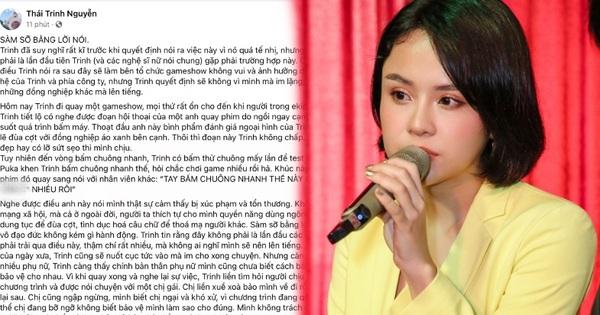 Thái Trinh vạch trần nhân viên quay phim quấy rối cô với lời lẽ thô tục: 'Sàm sỡ bằng lời cũng vô đạo đức không kém gì hành động'
