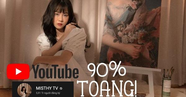 MisThy chốt hạ số phận kênh YouTube 6 triệu lượt theo dõi, '90% là toang rồi'