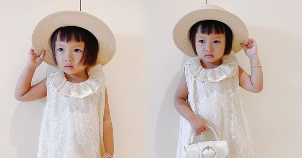 Con gái nuôi thứ 8 của NTK Đỗ Mạnh Cường ngày đầu tới trường: Bố tút tát cho tóc mới, mặc đồ hiệu như tiểu thư đi học