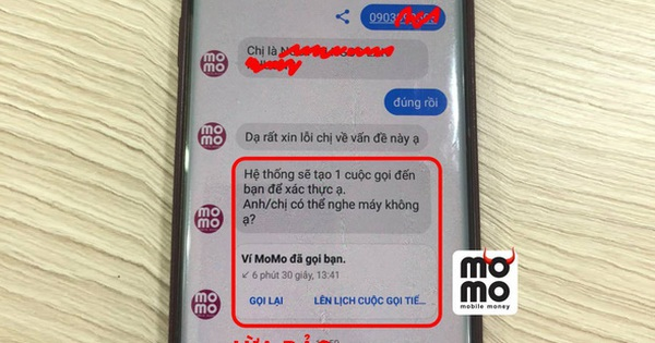 Bị lừa tiền vì cung cấp thông tin đăng nhập MoMo