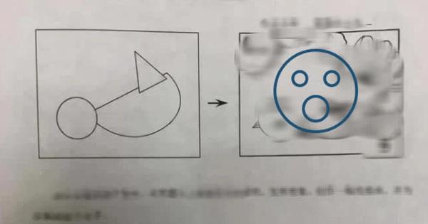 Cô giáo cho mấy hình tròn, vuông, tam giác yêu cầu học sinh vẽ thêm, ai ngờ nhận lại kết quả toàn 'kiệt tác'