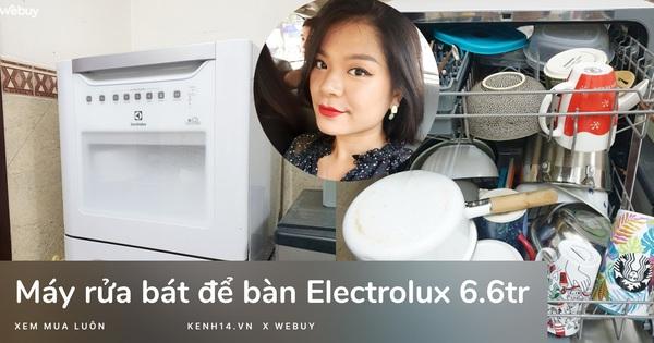 Sắm máy rửa bát Electrolux giá chưa đến 7 triệu, lắp không vừa bếp nhưng cô gái vẫn hài lòng vì dùng quá 'ngon'