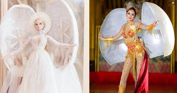 Trang phục dân tộc của Khánh Vân bị tố đạo nhái Hoa hậu Myanmar ngay sau khi công bố