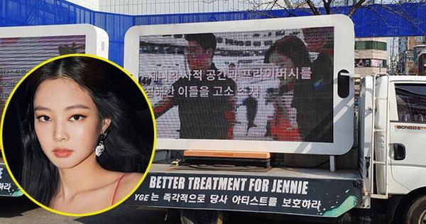 Đến lượt fan Jennie (BLACKPINK) thuê xe tải ''uy hiếp'' YG đòi quyền lợi, yêu cầu bảo vệ nữ idol sau khi bị xâm phạm đời tư