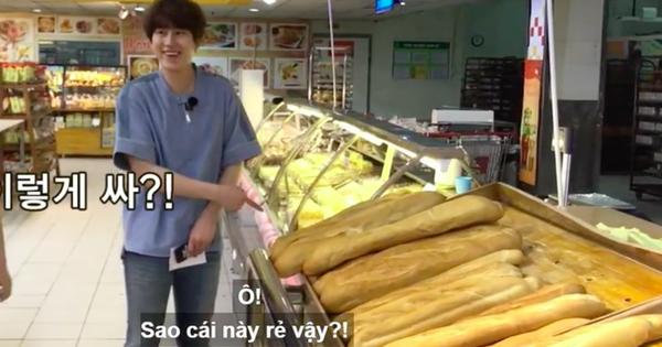 Không chỉ nổi tiếng với người Việt, những chiếc bánh mì khổng lồ của Big C còn từng làm 'khuynh đảo' dàn sao Hàn khi tới Việt Nam