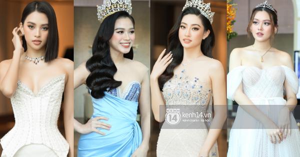 Thảm đỏ Miss World VN 2021: Đỗ Thị Hà lộ khuyết điểm, Lương Thùy Linh và dàn hậu 'chặt chém' chưa nổi bằng bụng bầu của Tường San?
