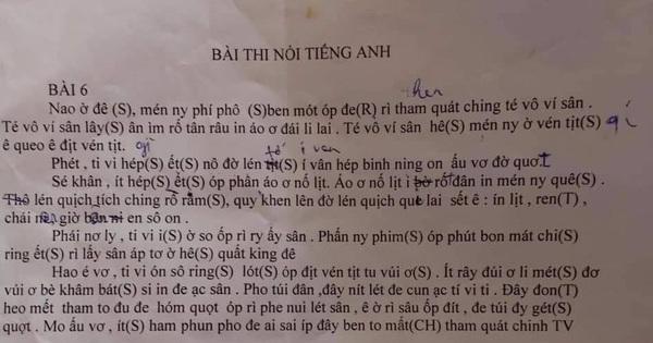Đi thi nói, sinh viên phiên âm cả đoạn văn tiếng Anh sang tiếng Việt, ai dịch được xin bái phục!