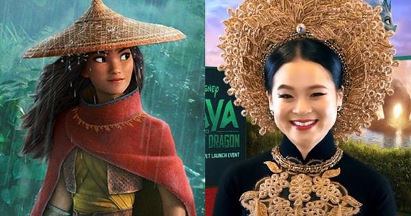 Công chúa gốc Việt đầu tiên của Disney diện áo dài lộng lẫy lên thảm đỏ, không giữ nổi bình tĩnh mà rơi nước mắt