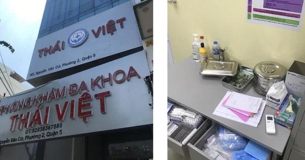 TP.HCM: 2 người Trung Quốc chạy khỏi phòng khám khi đoàn kiểm tra đến, bỏ mặc bệnh nhân đang cắt bao quy đầu