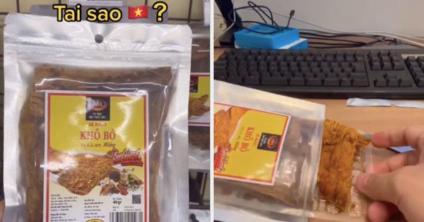 Mua khô bò trong siêu thị Việt Nam, về nhà mở ra ăn chàng trai người Nhật mới 'té ngửa' vì mánh khoé này, xem tới cuối còn bất ngờ hơn