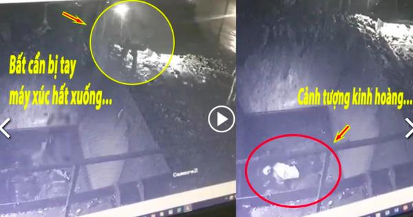 Kinh hoàng khoảnh khắc nam công nhân bị máy xúc hất xuống hố nghiền rác, tử vong