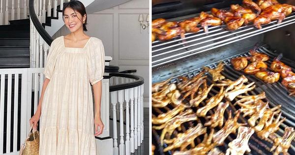 Món chân gà - cánh gà nướng vỉa hè dưới bàn tay Hà Tăng biến thành đại tiệc hấp dẫn trong biệt thự, quá nể dâu hào môn!